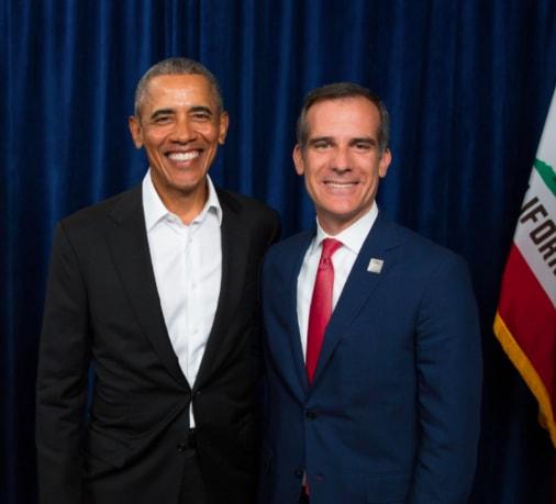 Barack Obama with someone